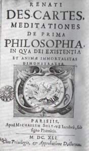 Primera edición de 'Meditaciones metafísicas', de René Descartes.