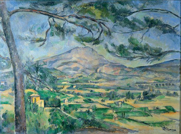 'Mont Sainte-Victoire'. Paul Cézanne, 1882–1885.