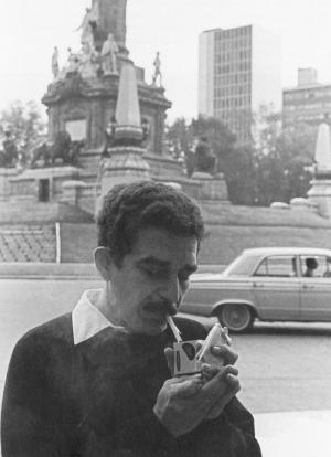Gabriel García Márquez en 1966 en Ciudad de México. FOTO: Hernán Díaz